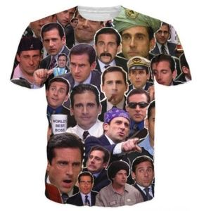 Other - Many Faces of Michael Scott Paparazzi T-Shirt Fash